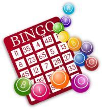 Carte bingo, grille bingo, numéros, boules bingo